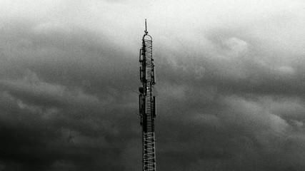 timelapse antenna media cloudscapes -Black & white