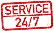 Service 24/7 Stempel rot  #130625-svg03