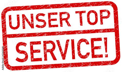 Top Service Stempel rot  #130625-svg02