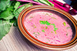 Spring beetroot soup