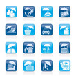 insurance, risk and business icons - vector icon set