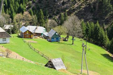 Rural alpine farm