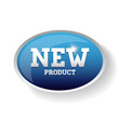 New product label blue