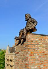 Chimney-sweeper monument in Lviv Ukraine