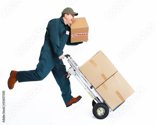 Running Delivery postman.