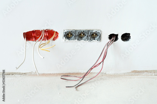 unfinished electrical installation - 53637766