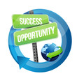 success opportunity street sign illustration