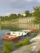 Rowboats on the Adda river, Trezzo D'Adda, Italy