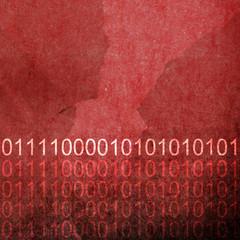 Grunge Red Binary Code Background
