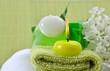Wellness Grün Kerzen Seife