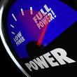 Full Power Fuel Gauge Strength Muscular Commanding Energy
