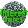 Interest Rates Percent Sign Symbol Sphere Mortgage Loan
