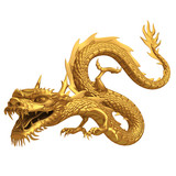 3d render of golden dragon - 53638980