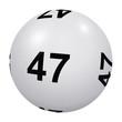 Loto, boule blanche numéro 47