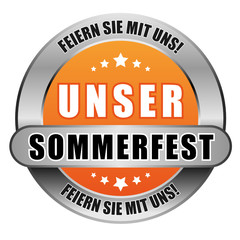 5 Star Button orange UNSER SOMMERFEST FSMU FSMU