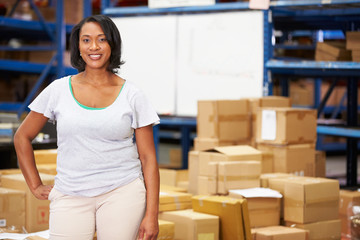 Portrait Of Worker In Distribution Warehouse