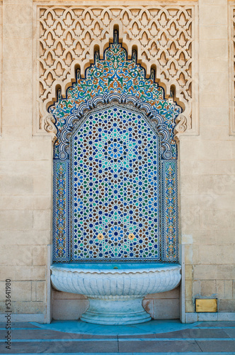 Maroccan tiled fountain