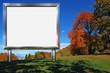 Big Chrome Billboard in the Mountain