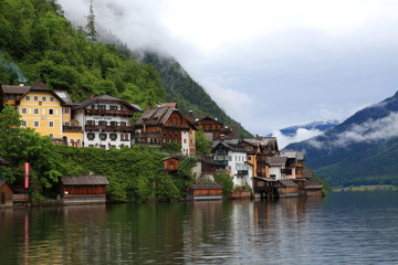 Hallstatt, the most beautiful lake town in the world, Austria.
