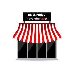 black friday shop icon with special design