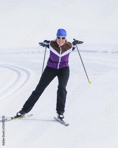sportlich Langlaufen