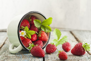 Strawberries in cup