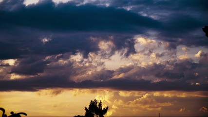 Clouds Timelapse Sunset