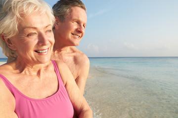 Senior Couple On Tropical Beach Holiday