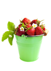 Full bucket of strawberry