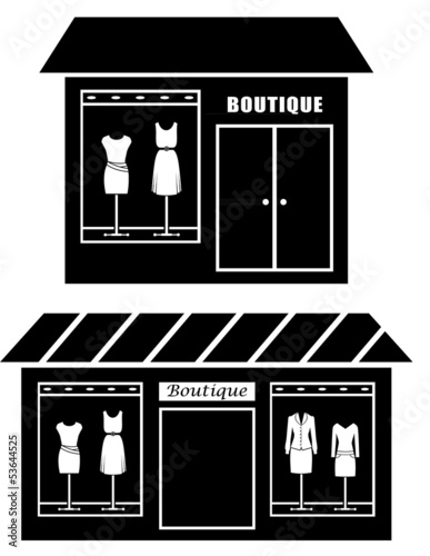 Black icon of boutique