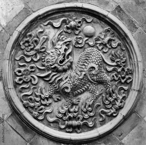 carved lion pattern
