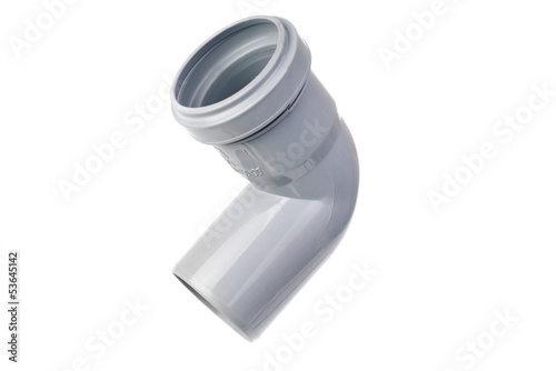 sanitary PVC fittings isolated on white