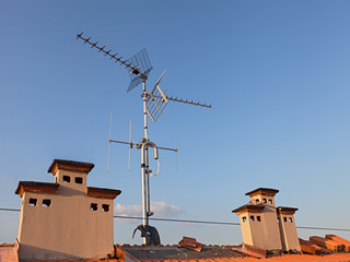 tv antenna and chimney