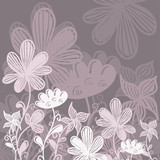 Pink gray floral background with text field