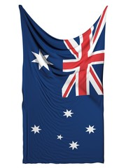Australia flag on white background
