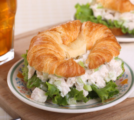 Chicken Salad on Croissant Roll