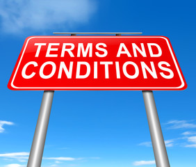Terms and conditions.