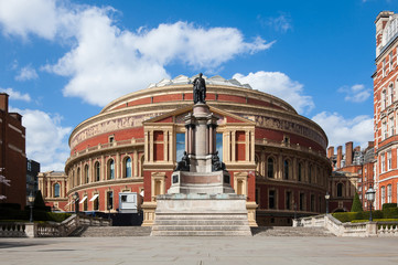 Royal Albert Hall in London. It is a concert hall