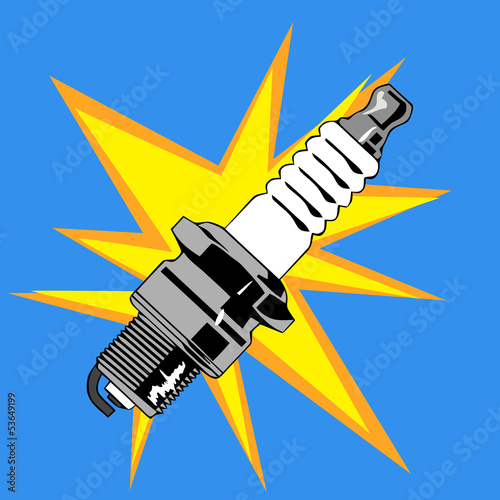 ignition candle vector illustration