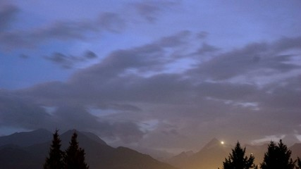 Alpine timelapse by night and day