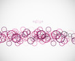Abstract circles pattern template