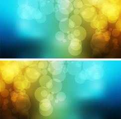multicolored business card  bokeh background abstract