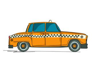 Cartoon yellow cab
