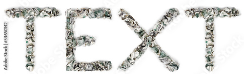 Text - Crimped 100$ Bills