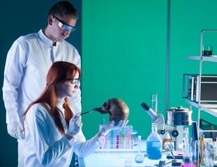 young caucasian forensic scientics