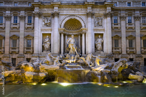 "The ""Trevi Fountain"" in Rome, Italy"