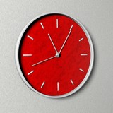 Clock with Red Clock face