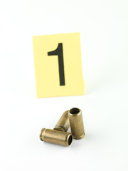 shell casings evidence tag one