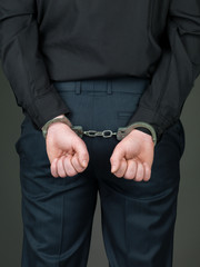 hancuffed individual palmes closed