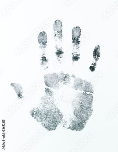right palm print